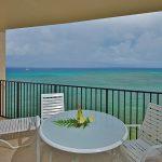 Lanai provides stunning ocean view