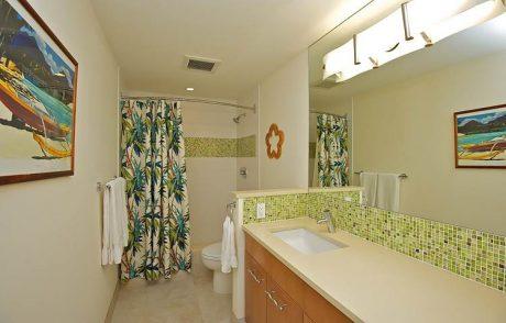 Roomy master bathroom