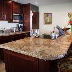 Granite counter tops provide plenty of space to prepare dinner