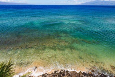 View looking between islands of Lanai and Molikai