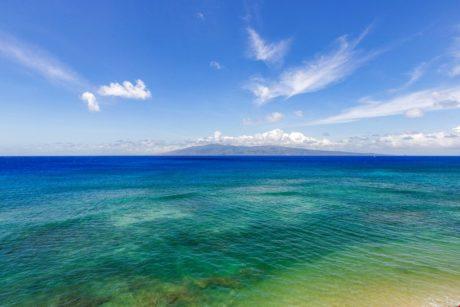 View looking at island of Molikai
