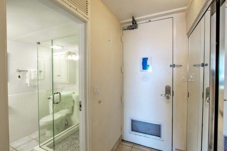 Bathroom and entrance way