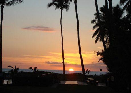 Sunset at Waiohuli Beach Hale