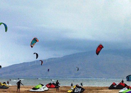 Kite Boarding Just Across The Street From Kihei Bay Surf