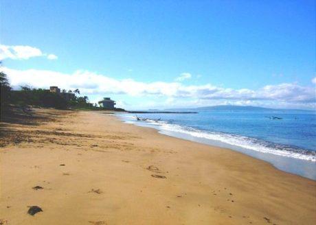 Long Sandy Beach Across From Kihei Bay Surf