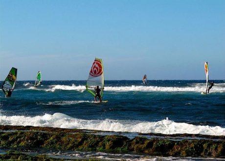 Windsurfing on Maui