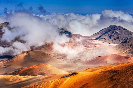 Haleakala National Park - Home to the dormant Haleakala Volcano and endangered Hawaiian geese.