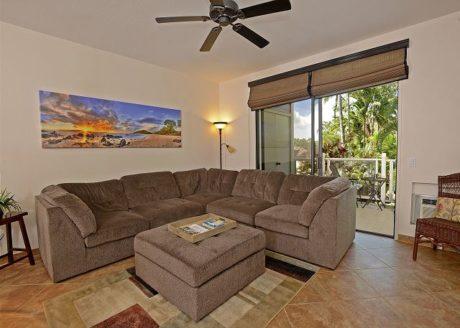 Plush Comfort and Cool Tile Floors - The cool tile floors will feel wonderful on sun weary feet.