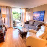 Plush comfort and beautiful wood floors - The smooth wood floors will feel wonderful on sun weary feet.