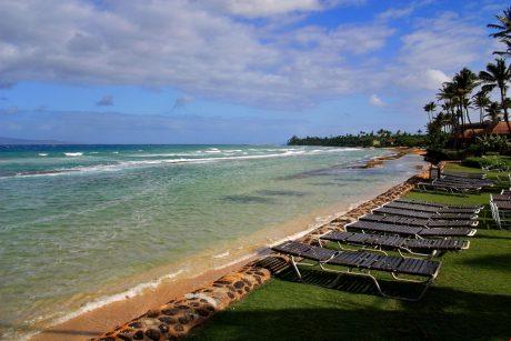 View towards the Island of Molokai