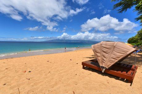Beach Cabana on N. Kaanapali Beach