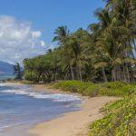 A white sandy beach is a five-minute walk from Kihei Garden Esta