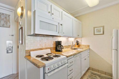 Partial kitchen
